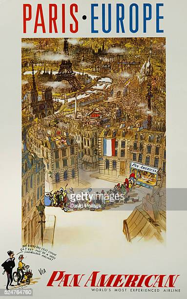Paris Europe via Pan American Travel Poster by Prescott