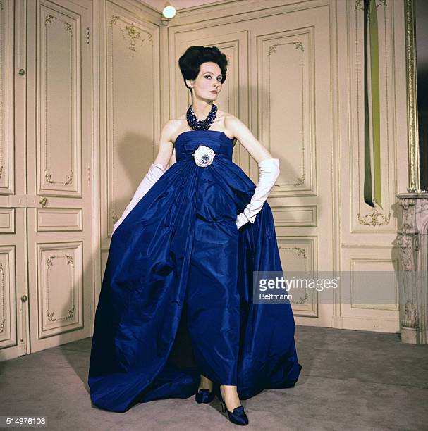 Paris Fashion Showings for FallWinter 19581959 Paris For gala occasions Pierre Cardin created this handsome evening gown Over the basic slender...