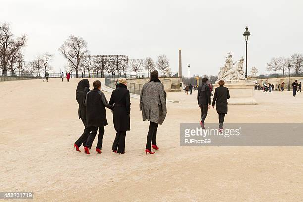 Paris Fashion Week 2013-Gruppe von models