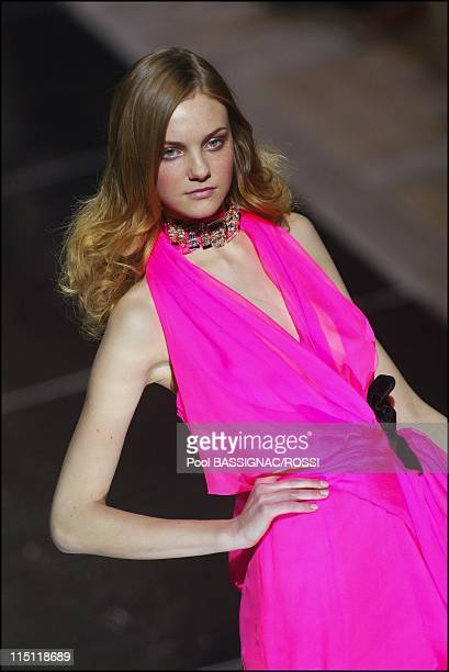 Paris Fashion Week Christian Lacroix Fall Winter 20052006 ready to Wear in Paris France on March 04 2005