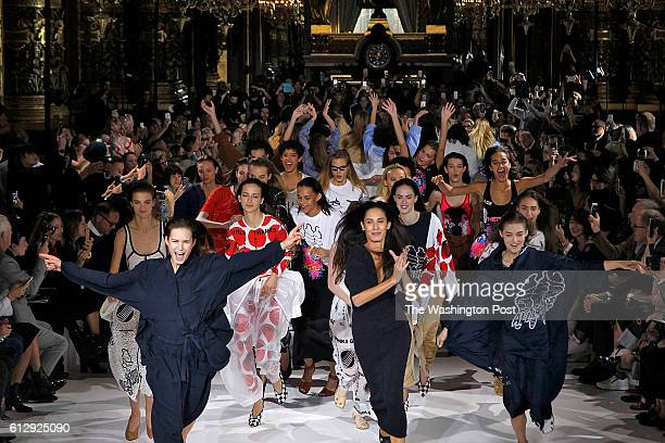 Paris Fashion Week, Stella McCartney Spring/Summer 2017 collection. A dance troupe joined the models for the finale of Stella MCCartney's show, in...