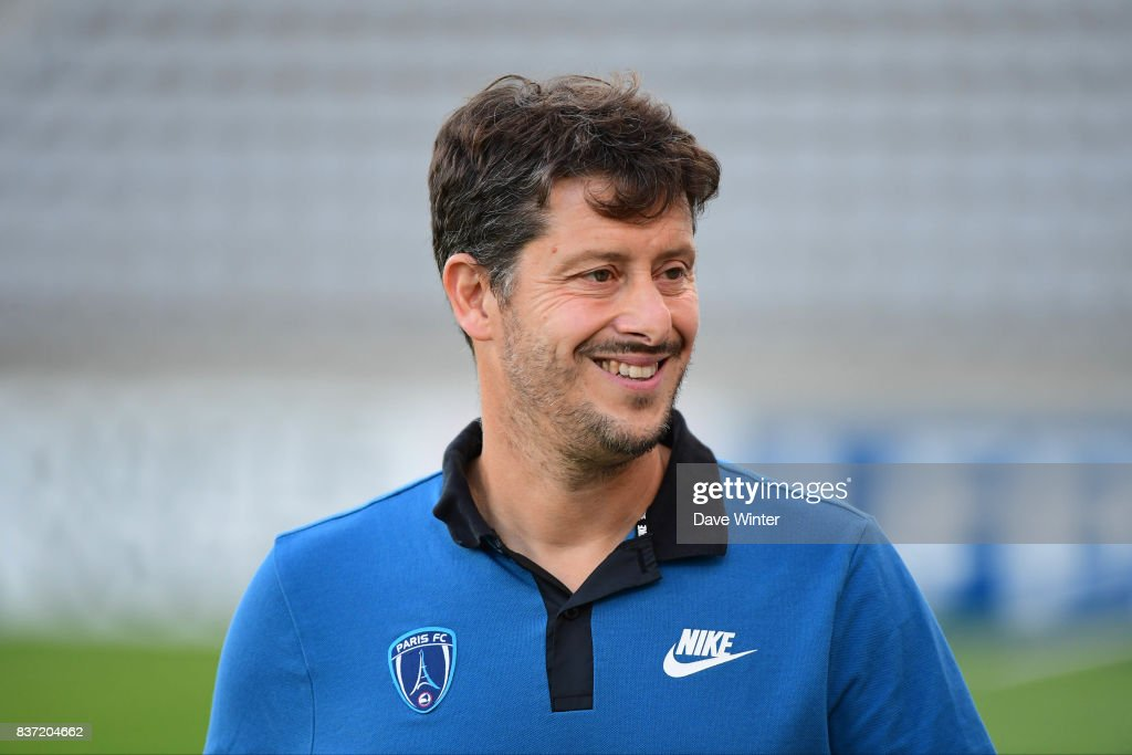 Paris FC coach Fabien Mercadal during the French League Cup match between Paris FC and Clermont Foot at Stade Charlety on August 22, 2017 in Paris, France.