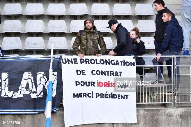 Paris FC fans during the Ligue 2 match between Paris FC and Gazelec FC Ajaccio on March 30 2018 in Paris France