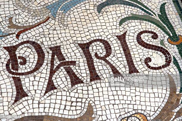 'paris' -  floor mosaic - art nouveau stock pictures, royalty-free photos & images