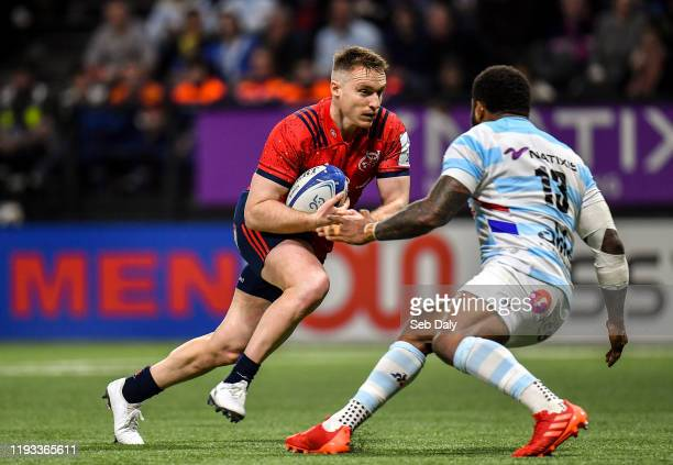 Paris , France - 12 January 2020; Rory Scannell of Munster in action against Virimi Vakatawa Racing 92 during the Heineken Champions Cup Pool 4 Round...