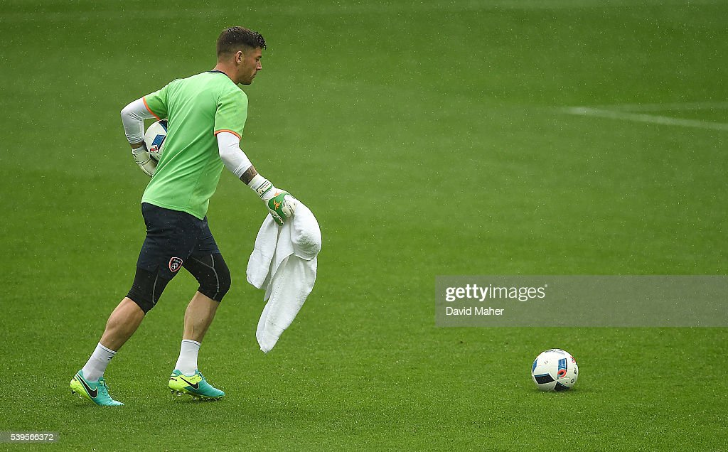 Paris , France - 12 June 2016; Keiren Westwood of Republic of Ireland during squad training at the Stade de France in Saint Denis, Paris, France.
