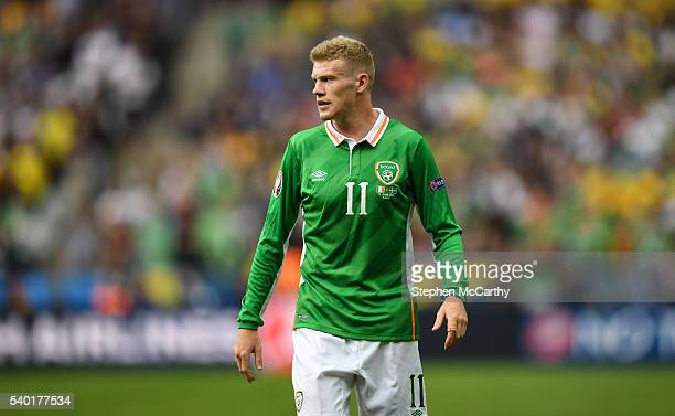 Paris France 13 June 2016 James McClean of Republic of Ireland during the UEFA Euro 2016 Group E match between Republic of Ireland and Sweden at...