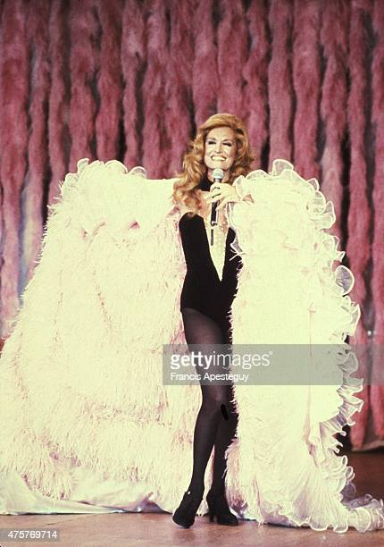 Paris, France -- 15 December 1980, Egyptian-born singer Dalida performs in Paris.,