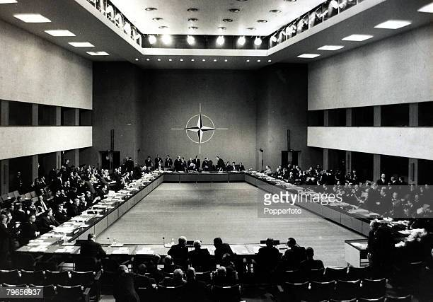 Paris France 16th December 1966 A general view of the plenary session of the NATO Ministerial Council meeting