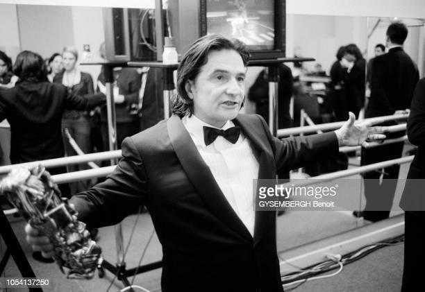 Paris France 19 février 2000 Les coulisses de la 25ème Nuit des César au Théâtre des ChampsElysées suivie d'un dîner au Fouquet's Portrait de...