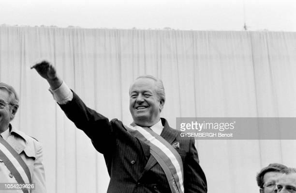 Paris France 1er mai 1988 JeanMarie LE PEN leader du Front national qui vient d'obtenir plus de 14 % des voix au premier tour de l'élection...