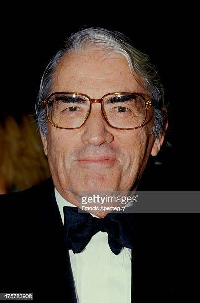 Paris France American actor Gregory Peck attends a gala at the Paris Opera house
