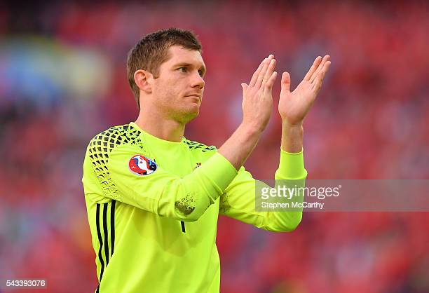 Paris , France - 25 June 2016; Michael McGovern of Northern Ireland following the UEFA Euro 2016 Round of 16 match between Wales and Northern Ireland...