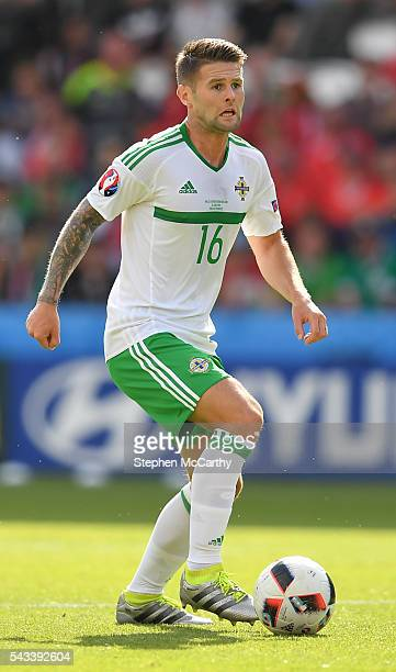 Paris France 25 June 2016 Oliver Norwood of Northern Ireland during the UEFA Euro 2016 Round of 16 match between Wales and Northern Ireland at Parc...