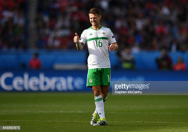Paris , France - 25 June 2016; Oliver Norwood of Northern Ireland during the UEFA Euro 2016 Round of 16 match between Wales and Northern Ireland at...