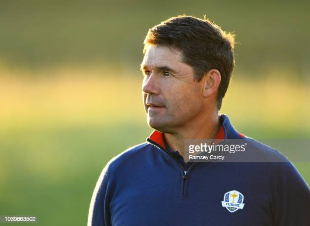 Paris France 25 September 2018 Europe vicecaptain Pádraig Harrington during the Europe team photocall ahead of the Ryder Cup 2018 Matches at Le Golf...
