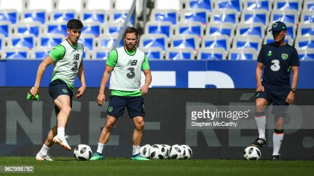 Paris France 27 May 2018 Callum O'Dowda and Alan Judge during Republic of Ireland training at Stade de France in Paris France