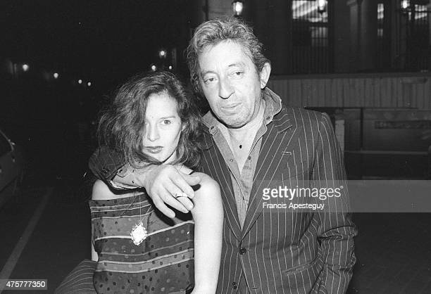 Paris France French singer Serge Gainsbourg with Bambou