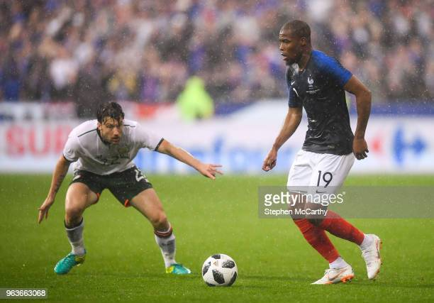 Paris France 28 May 2018 Djibril Sidibé of France in action against Harry Arter of Republic of Ireland during the International Friendly match...