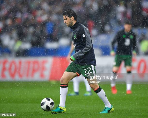 Paris France 28 May 2018 Harry Arter of Republic of Ireland during the warmup prior to the International Friendly match between France and Republic...