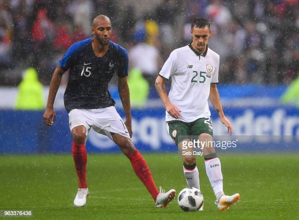 Paris France 28 May 2018 Shaun Williams of the Republic of Ireland in action against Steven Nzonzi of France during the International Friendly match...