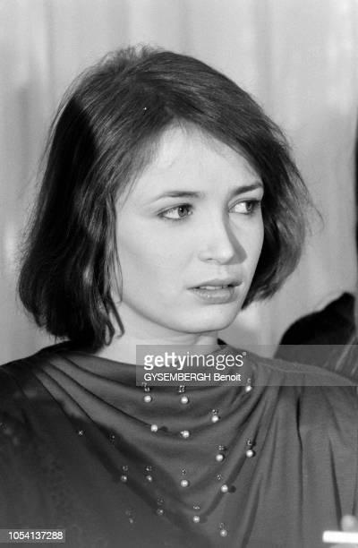 Paris France 3 février 1979 Quatrième Nuit des César récompensant les films sortis en 1978 à la salle Pleyel Portrait en plan rapproché de Dominique...