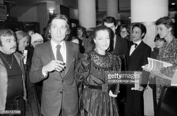 Paris France 3 février 1979 Quatrième Nuit des César récompensant les films sortis en 1978 à la salle Pleyel Romy SCHNEIDER actrice allemande...
