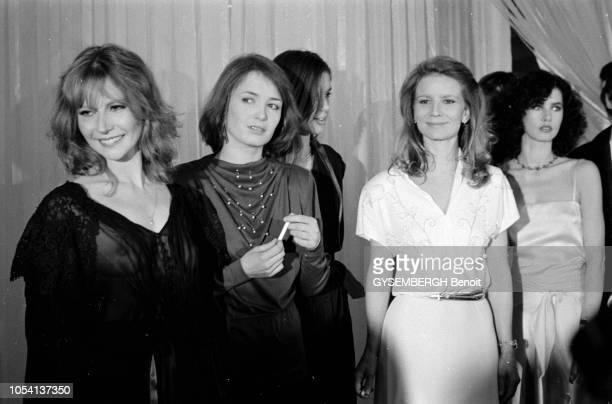 Paris France 3 février 1979 Quatrième Nuit des César récompensant les films sortis en 1978 à la salle Pleyel Les actrices françaises France DOUGNAC...