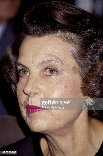 Paris France 30 November 1988 Liliane Bettencourt at the French Academy of Arts