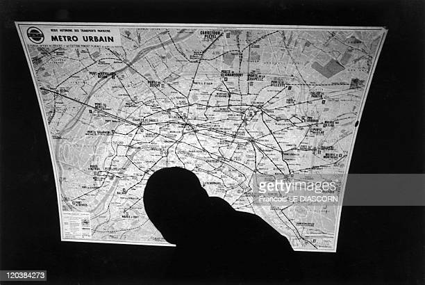 Paris France A map of the metro