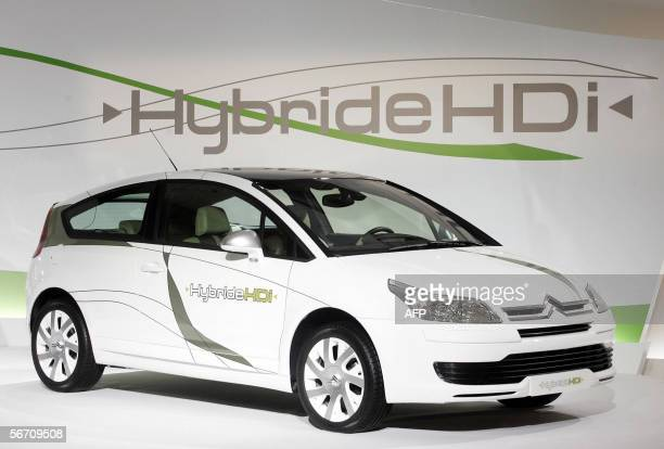 New Citro?n C4 model of Hybrid car is unveiled 31 January 2006 in Paris. The French PSA Peugeot Citro?n car maker presented two models of Hybrid cars...