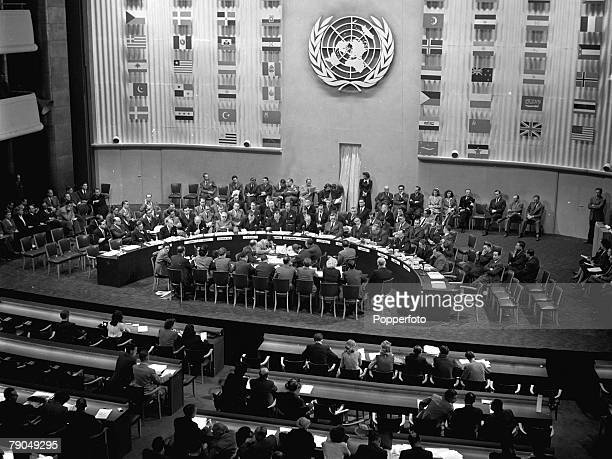 Paris, France, A picture of the third General Assembly of the United Nations at the Palais de Chaillot
