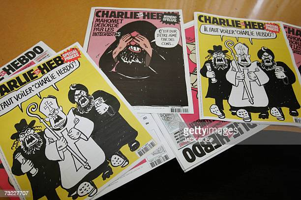 A picture taken 06 February 2007 in Paris shows a special edition of French satirical weekly Charlie Hebdo Editors of Charlie Hebdo will be in a...