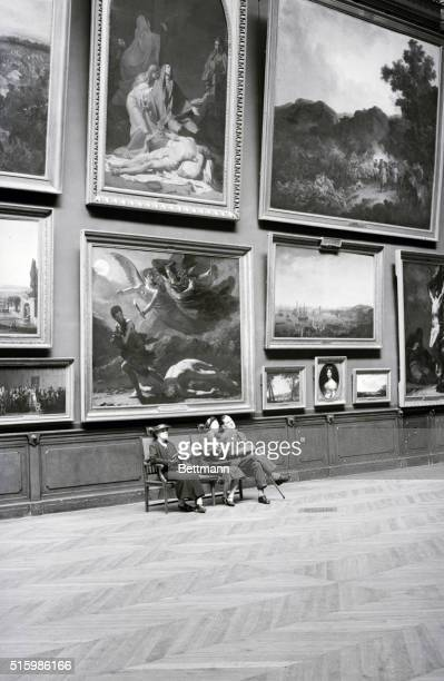 A room in the Louvre Galleries Undated photograph BPA2