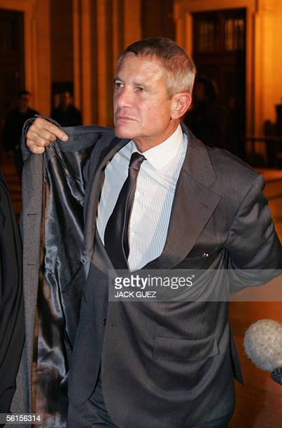 Alain Gomez French defence firm Thomson former CEO leaves Paris tribunal 14 November 2005 at the end of the first day of his trial He is charged with...