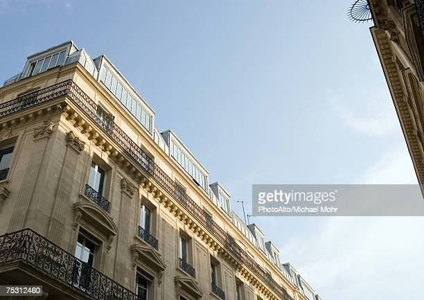 Paris, France, apartment building, low angle view