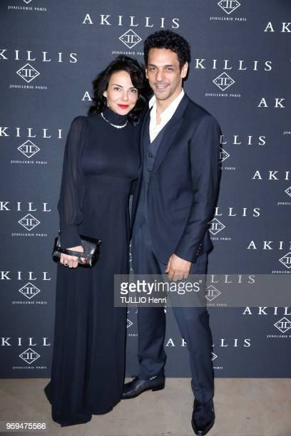 Paris France April 10 2018 The Akillis Jewelery House celebrated its 10th anniversary at the Palais de Chaillot Tomer SISLEY and his wife Sandra ZEIT