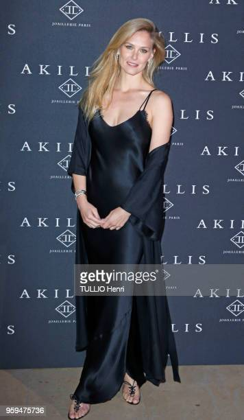 Paris France April 10 2018 The Akillis Jewelery House celebrated its 10th anniversary at the Palais de Chaillot Bar REFAELI with Python earrings