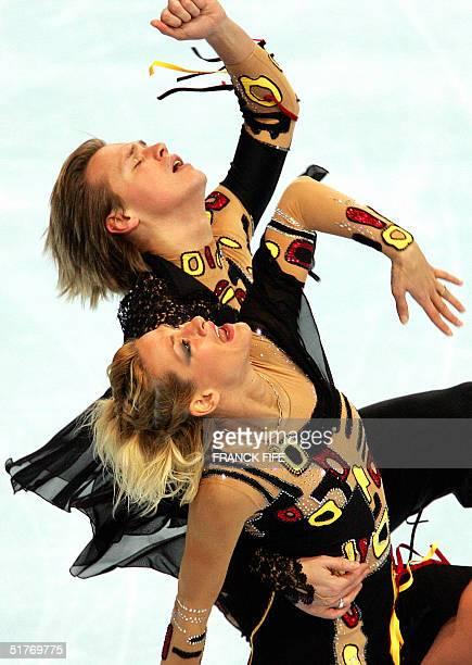 Bulgarian Albena Denkova and Maxim Staviski perform their skating dance free program during the Trophee Bompard 20 November 2004 at the...