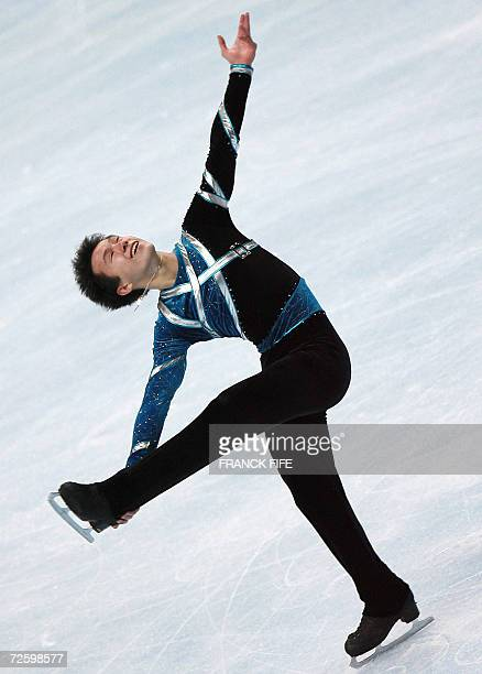 Canadian Patrick Chan perform during the Men Free Skating program in the Trophee Bompard 18 November 2006 at the PalaisOmnisportsParisBercy in Paris...