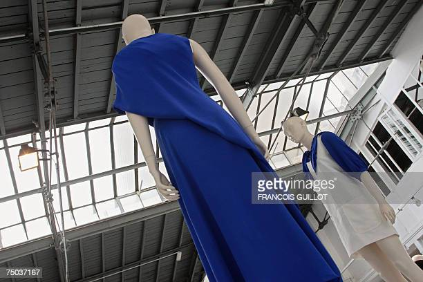 Creations by Belgian designer Cathy Pill are pictured during Fall/Winter 200708 Haute Couture collection show 05 July 2007 in Paris AFP PHOTO...
