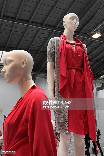 Creations by Belgian designer Cathy Pill are seen during Fall/Winter 200708 Haute Couture collection show 05 July 2007 in Paris AFP PHOTO FRANCOIS...