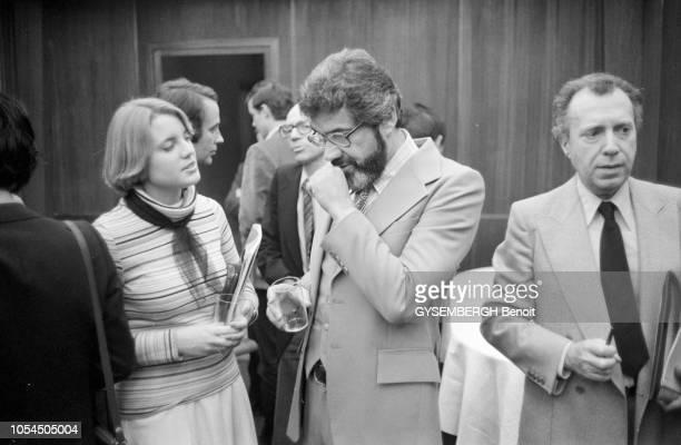 Paris France décembre 1978 Emission Les dossiers de l'écran sur le thème des sectes présentée par Joseph Pasteur sur Antenne 2 Au centre de l'image...