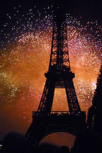 Paris France - Eiffle Tower with Fireworks 531619346