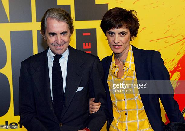 File picture dated 04 November 2003 in Paris shows French model Ines de la Fressange and her husband Luigi D'Urso According to Italian daily Corriere...