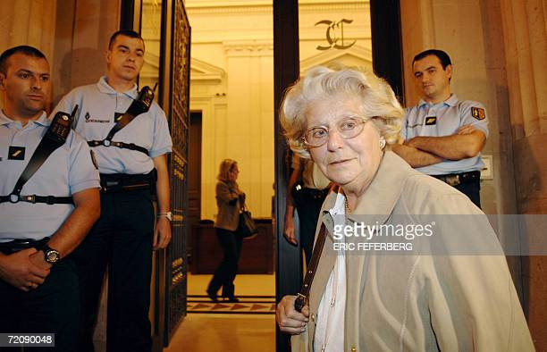 Former resistant member and witness Colette Noll arrives 05 October 2006 in Paris at the French Court of Revision which reopens a 83 yearold mystery...