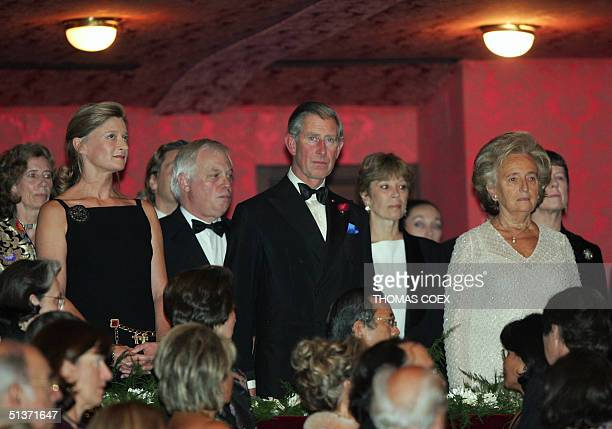 France's first Lady Bernadette Chirac Britain Prince Charles Isabelle Barnier wife of the Foreign Affairs minister Michel Barnier and EU External...
