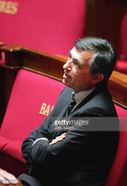 French Foreign Affairs Minister Philippe DousteBlazy is pictured at the National Assembly 02 May 2006 in Paris during the weekly session of questions...