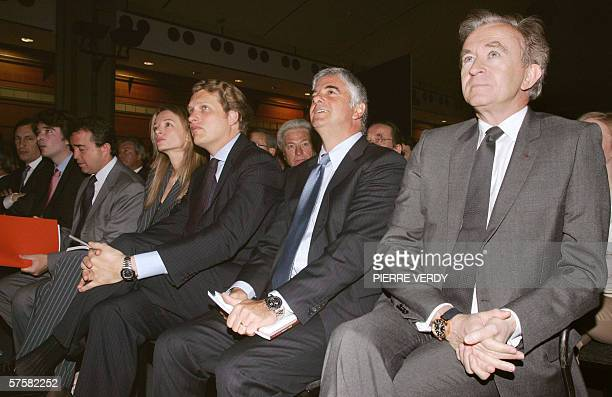 French luxury products group LVMH CEO Bernard Arnault is pictured during a general assembly 11 May 2006 in Paris Arnault reports LVMH growth...