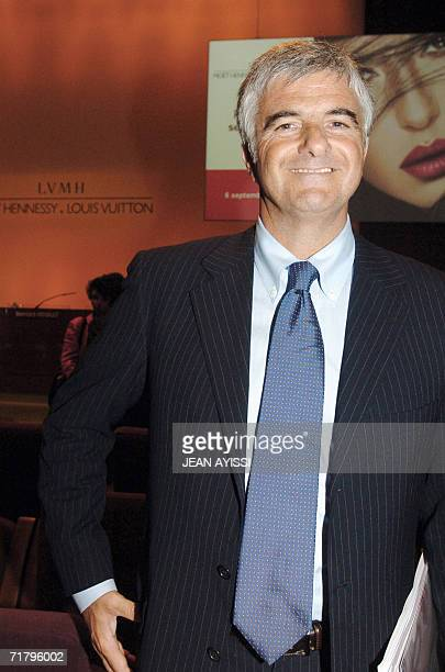 French luxury products group LVMH deputy chief executive officer Antonio Belloni poses after a press conference announcing the 2006 first semester...